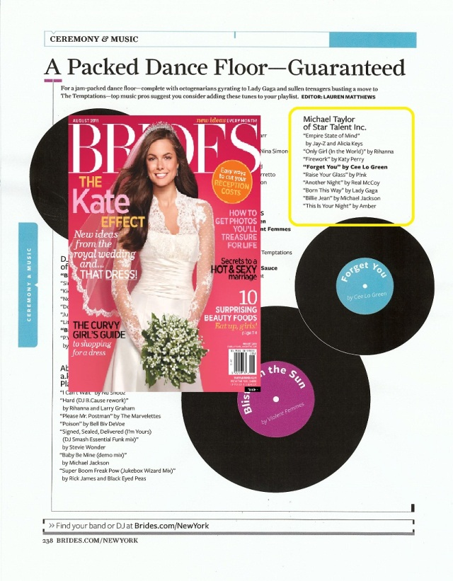 Michael Taylor Star Talent Brides Magazine Weddings New York Band