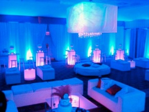LED Up-Lighting has a full spectrum of colors Decor lighting company New York
