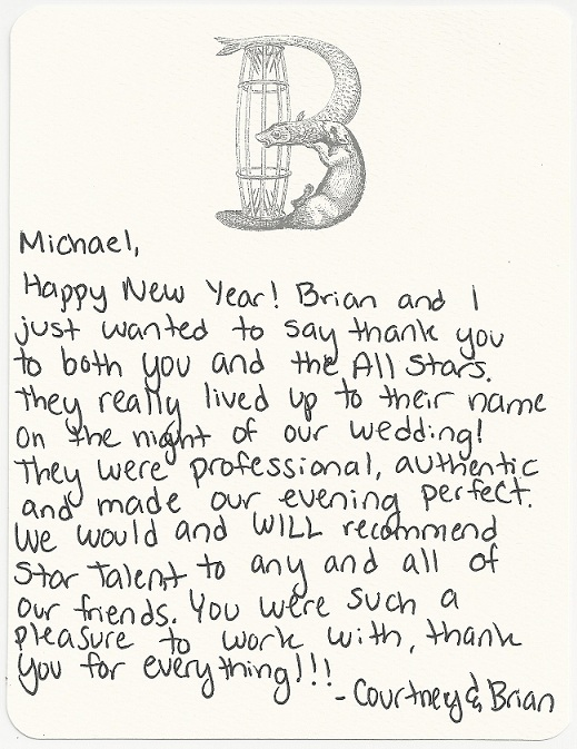 Letter From the Bride & Groom