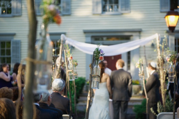The Vintage Country Wedding Ceremony at The Inn at Millrace Pond in New Jersey