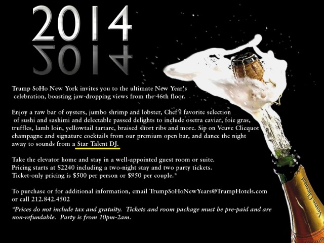 New Year's Eve Party at Trump Soho New York